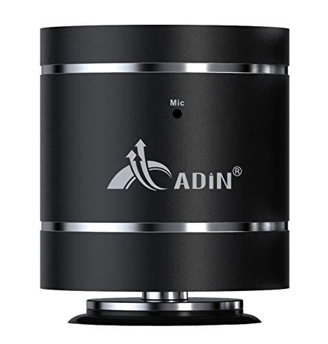 ADIN vibeBoost Mini, Kleiner Bluetooth Lautsprecher mit einzigartiger Resonanz-Vibrations-Technologie, m. Freisprecheinrichtung (schwarz)