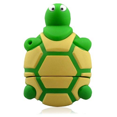 818-Tech No30900040336 Hi-Speed 3.0 USB-Stick 16GB Lustige Schildkröte 3D grün