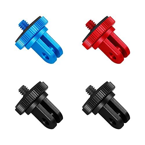 Haisheng 4PCS Adattatore camera adattatore di montaggio Adattatore fotocamera adattatore per treppiede adattatore gopro supporto gopro bici per fotocamera compatibile con altra action cam (3 colori)