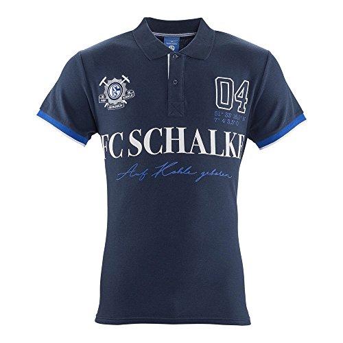 FC Schalke 04 Herren Polo-Shirt Auf Kohle geboren (S)