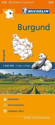 Michelin Burgund: Straßen- und Tourismuskarte 1:200.000 (MICHELIN Regionalkarten)