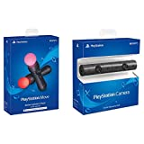 Sony PlayStation VR PSVR Camera and 2 Pack Move Motion Controllers PS4 (Renewed)