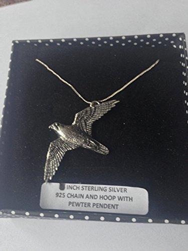 B35 - Collar de plata de ley 925 con cadena de 45,7 cm con prideindetails en caja de regalo