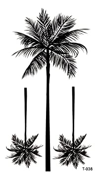 tropical palm tree temporary tattoo sexy party favor
