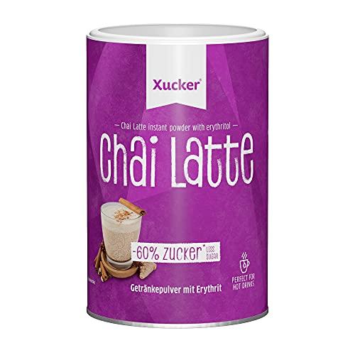 Xucker Chai Latte Pulver Erythrit - Laktosefreie Gewürztee Mischung mit Schwarztee Extrakt und Gewürzen I Chai Tee gesüßt mit kalorienfreien Erythrit anstatt Zucker (250g)