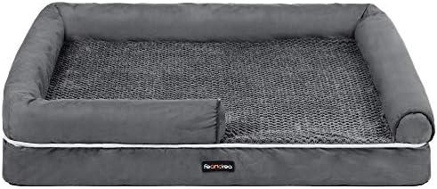 FEANDREA Dog Bed Orthopedic Dog Sofa Memory Foam Dog Mat Removable Cover Waterproof Machine product image