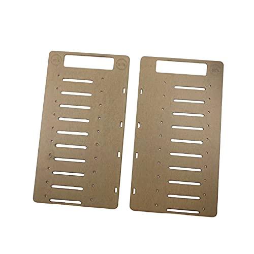 H HILABEE Caja organizadora de Soporte de Disco Duro apilable de múltiples Capas de acrílico de 3,5 Pulgadas para HDD SSD - Piso 10