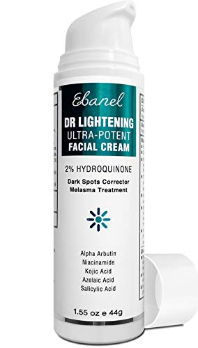 2% Hydroquinone Dark Spot Corrector Whitening Cream, Skin Bleaching Cream Lightening Cream Hyperpigmentation Melasma Treatment with Kojic Acid, Alpha Arbutin, Salicylic Acid, Niacinamide, Azelaic Acid