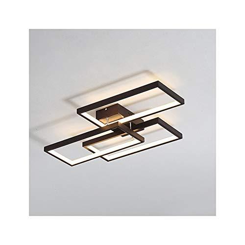 42W Lámpara De Techo LED Regulable Moderna, Creativo Rectángulo Aluminio Y Pantalla...