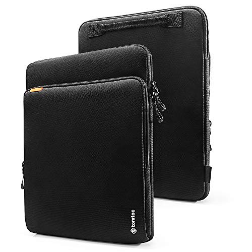 tomtoc 360 Protection Laptop Sleeve Designed for 15 Inch MacBook Pro with USB-C A1707 A1990, Waterproof Cordura Fabric Case for 2020 New Dell XPS 15 Laptop, ThinkPad X1 Yoga (1-4th Gen) Chromebook