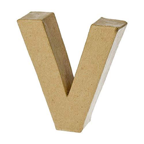 NEU Papp-Buchstabe, V, Höhe 10 x Breite 9,4 x Tiefe 3 cm