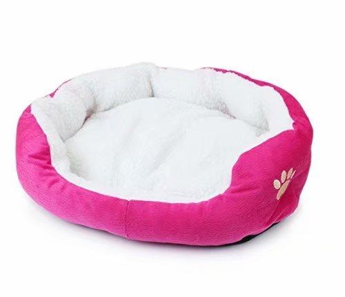 Cuccia rotonda o ovale in pile per cane di piccola taglia
