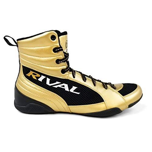Rival RSX-Guerrero Deluxe Boxing Boots Gold Sparring Footwear Shoes Boxing...