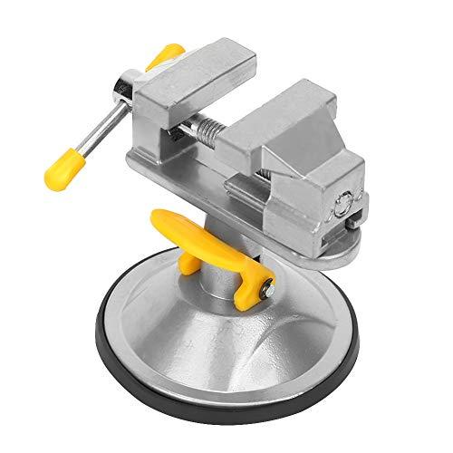 iFCOW Vice Vice - Tornillo giratorio multiángulo para mesa mini abrazadera de mesa con succión potente herramienta de reparación para trabajos pequeños