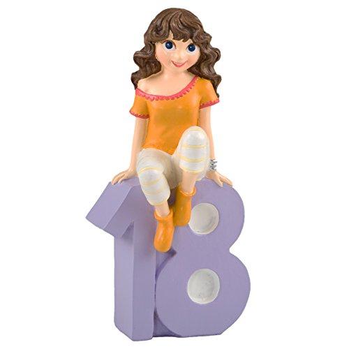 Mopec Figura para Pastel Chica con Camiseta, Poliresina, Amarillo, 6x13.5x23.5 cm