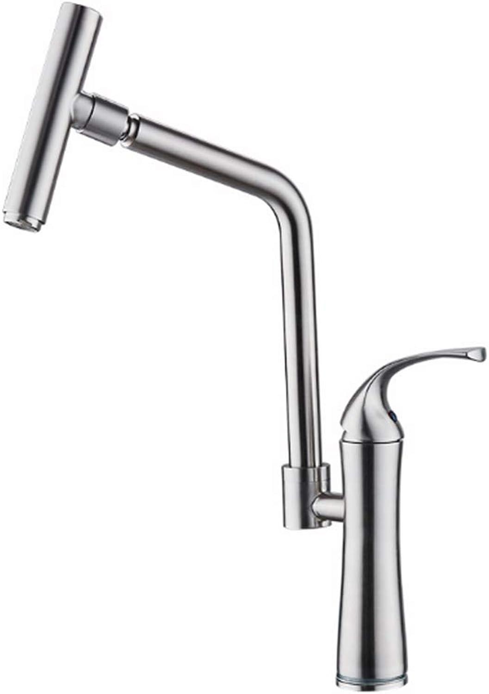 CTREKE Becken Wasserhahn Küchenspüle Mischer Bad Wasserhahn warm und kalt rotierenden Wschepool einzigen kalt C
