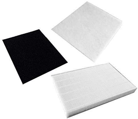 HAOJUE Filtro compuesto purificador de aire 3 en 1 con filtro de carbón activado y filtro primario de algodón, 300 x 300 mm