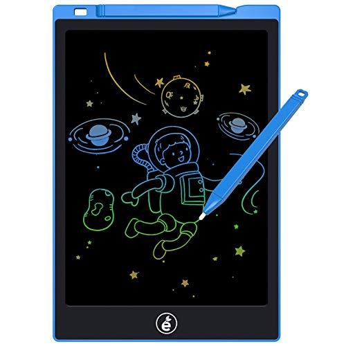 LCD Schreibtafel,11 Zoll Elektronisches Schreib- und Zeichenbrett, löschbares tragbares Doodle-Brett Bunte Bildschirm Zeichenbrett für Kinder und Erwachsene zu Hause, in der Schule, im Büro(Blau)