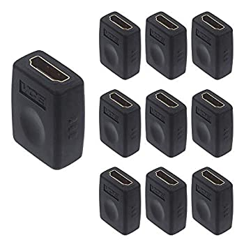 VCE 10 Pack HDMI Coupler HDMI Female to Female Adapter Connector Support 3D 4K 1080P HDMI Cable Extender Compatible with Roku TV Stick Chromecast Switch Xbox One PS4 PS3 PC and More