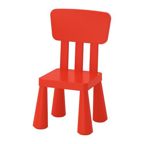 IKEA MAMMUT Chaise enfant enfants meubles Chaise dans kräftigem Rouge en plastique unbedenklichem – Dimensions : 39 x 36 x x67 cm
