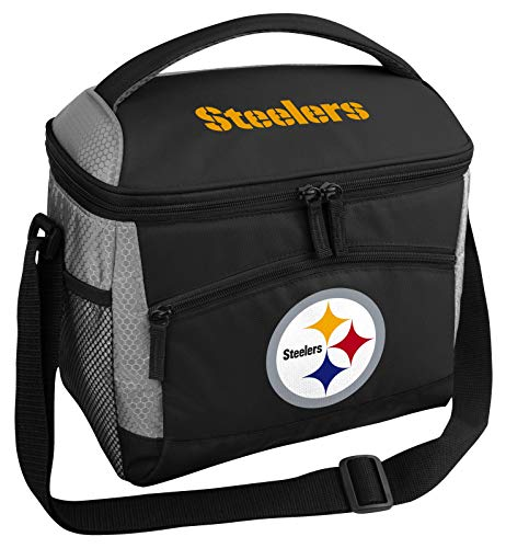 Rawlings NFL Soft Sided Insulated Cooler Bag/Lunch Box, 12-Can Capacity, Pittsburgh Steelers