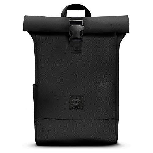Alopa Rolltop Rucksack 30l schwarz für Damen & Herren - wasserdichter Wanderrucksack mit Laptopfach - geeignet für Uni, Job und Freizeit
