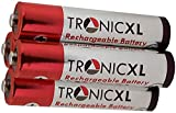 TronicXL - Juego de 4 Pilas AAA compatibles con Medion Life S63003 S63026 S63047 P62004 MD82144 MD82449 MD82717 MD83321 S 63026 MD 83321 82717 82449 82144 63047 DECT