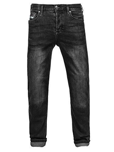 John Doe Original XTM Motorrad Jeans Herren Stretch mit Protektoren Black 31/32