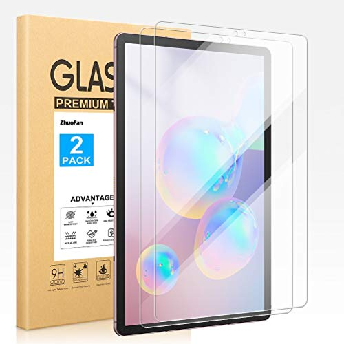 ZhuoFan Screen Protector for Samsung Galaxy Tab S6 10.5 2019 (SM-T860/T865/T866N), Tempered-Glass Flim Screen Protector Compatible Samsung Galaxy Tab S6 10.5' Premium quality, [Pack 2x]