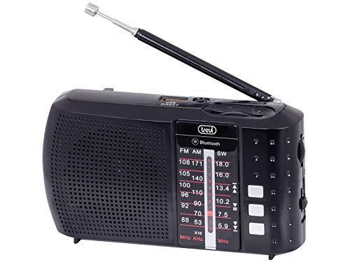 Trevi RA 7F20 BT Radio portátil multibanda con Bluetooth, USB, MicroSD, batería Recargable Negro