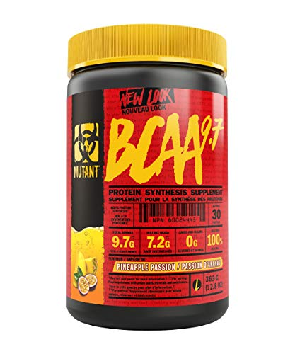 MUTANT BCAA 9.7 Supplement BCAA Powder with Micronized Amino Acid and Electrolyte Support Stack, 363g (.80 lb) - Pineapple Passion