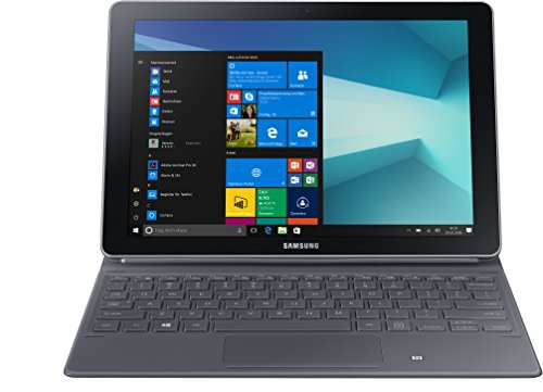 Samsung Galaxy Book W620 26,92 cm (10,6 Zoll) Convertible Tablet PC (Intel Core m3 7Y30, 4GB RAM, 64GB Speicher, Windows 10 Home) silber