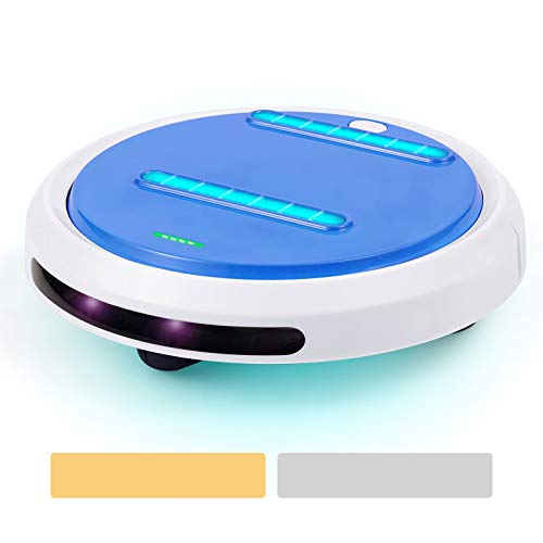 ELEKING Cleansebot Portable Home Cleaning Light Robot Anti Dust for Carpet, Bed, Sofa, Travel, Hotel, Home, Color Blue
