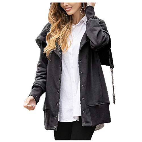 Wsgyj52hua 2020 Herbst Und Winter Explosion Modelle Lose LäSsige EuropäIsche Und Amerikanische Stil Pullover Mantel Damenjacke