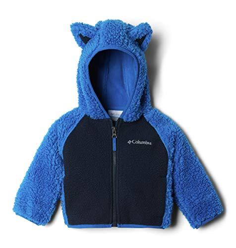 Columbia Unisex-Kinder Foxy BabySherpa Full Zip Fleecejacke, Super Blue/Collegiate Navy, 2 Jahre