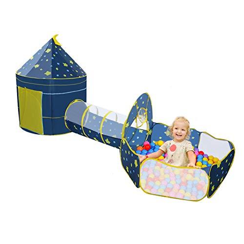 Tenda da Gioco Pieghevole per Bambini da Interno / Esterno Tenda per Bambini Tunnel di esplorazione...