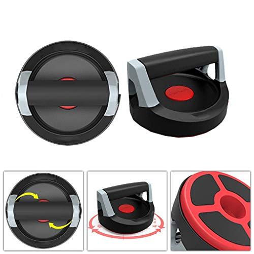JHSHENGSHI Push-Up-Ständer/Hausarm-Bauchmaschine/Übungs-Brustmuskel-Fitnessgeräte / 360 & deg; Rotationsdesign/Verhinderung von Handgelenksverletzungen, rot, 17,5 * 17,5 * 11,4 cm für zu