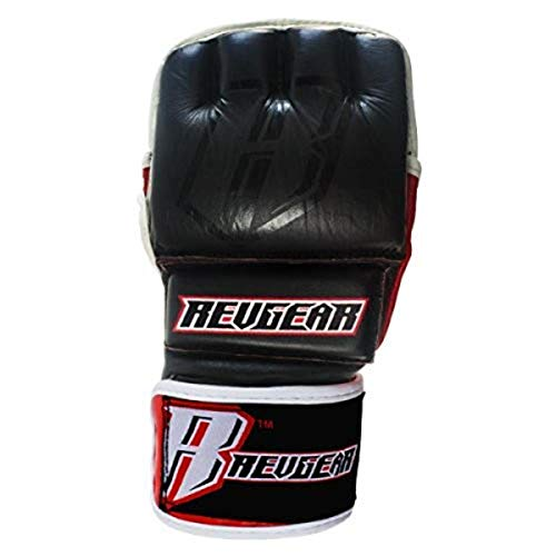 Revgear Vigilante Gel Pro MMA Leather Gloves (Large/4-Ounce)