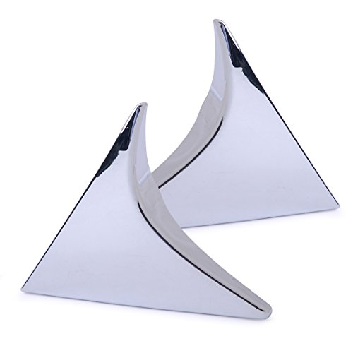 CITALL 2 pièces d'argent spoiler de la lunette arrière aile latérale triangulaire garniture pour moderne Tucson 2016-2018