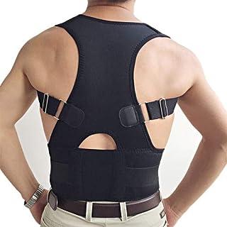 Adjustable Neoprene Shoulder Brace Orthopedic Lumbar Support Belts for er Back Posture Corrector Belts Corsets Women Men Kids : Black, XXL
