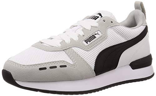 PUMA Unisex R78 Sneaker, White-Gray Violet Black, 44.5 EU
