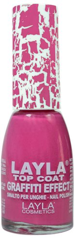 Layla Cosmetics Top Coat Graffiti Nagellack, crazy fucsia, 1er pack (1 x 0.01 L)