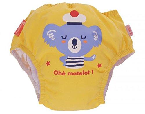 Piwapee - Maillot couche Bébé Nageur Koala Jaune Pastel 4 - 8 kg