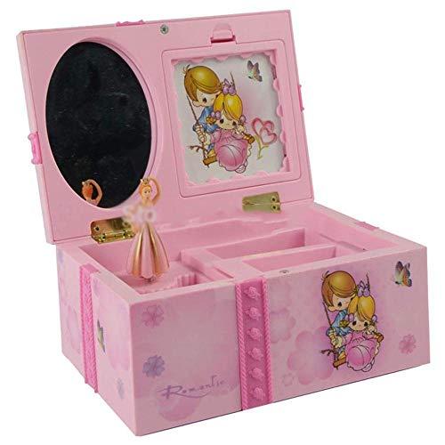 A-Generic Dream Girl Music Box Joyero Musical para niños Rectángulo con Bailarina Rosa Caja de música Alicia en el país de Las Maravillas