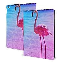 SORA 美しいフラミンゴが水 中でビーチ iPad 10.2 ケース iPad 8 ケース(2020モデル) iPad 第7世代 ケース (2019モデル) Apple Pencil 一代収納可能 ipad 10.2 インチ (2019/2020秋発売新型)アイパッド ケース10.2 2020 第8世代