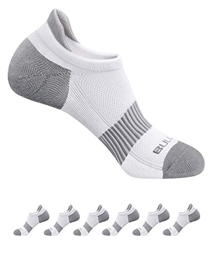 Active Athletic Socks For Women 6Pairs,Bulliant Womens Running Ankle Socks Cushioned Sole,Supportive and Moisture Taking