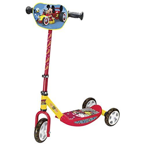 Smoby - Mickey Patinete 3 ruedas, manillar de altura regulable, ligero y estable Disney (Smoby 750166)