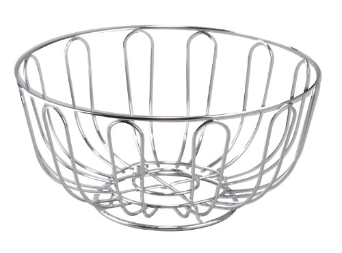 Cuisinox Round Bread Basket/Fruit Bowl, Stainless Steel