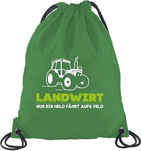 Landwirt Trecker, Traktor Bauer Turnbeutel Rucksack Sport Beutel, Größe: onesize,Kelly Green