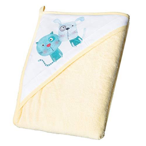 Hamac de bain transat fauteuil pour b/éb/é en tissu Jaune Dog and Cat